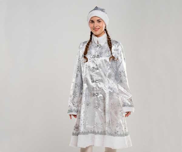 Белый костюм Снегурочки.